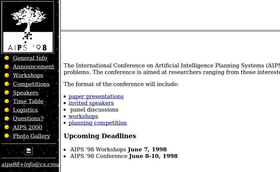 Website of AIPS 1998