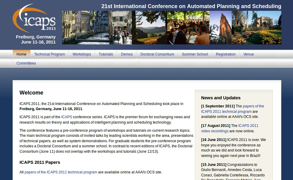 Website of ICAPS 2011