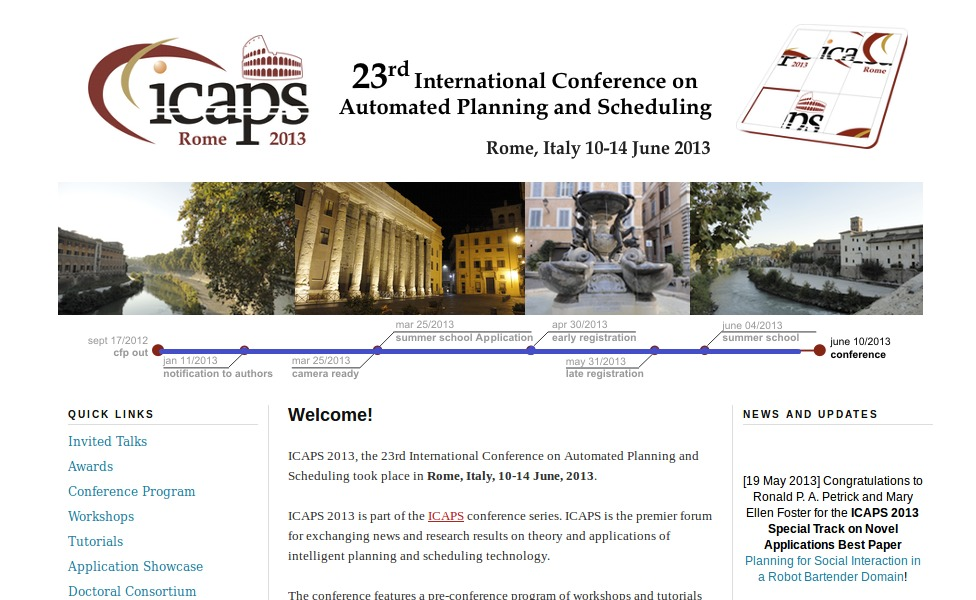 Website of ICAPS 2013
