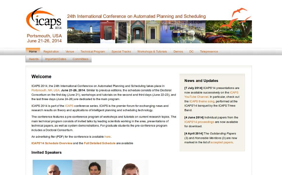 Website of ICAPS 2014