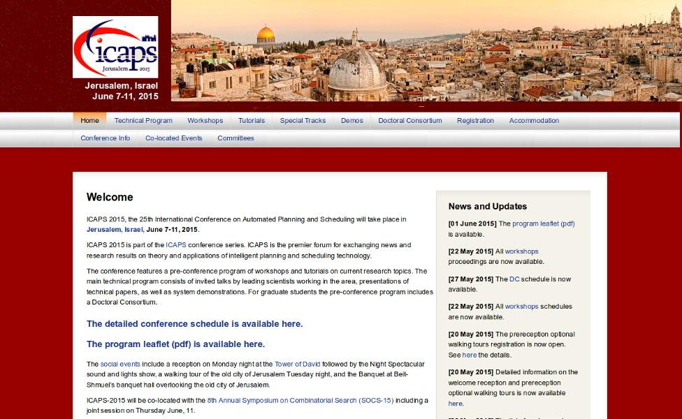 Website of ICAPS 2015
