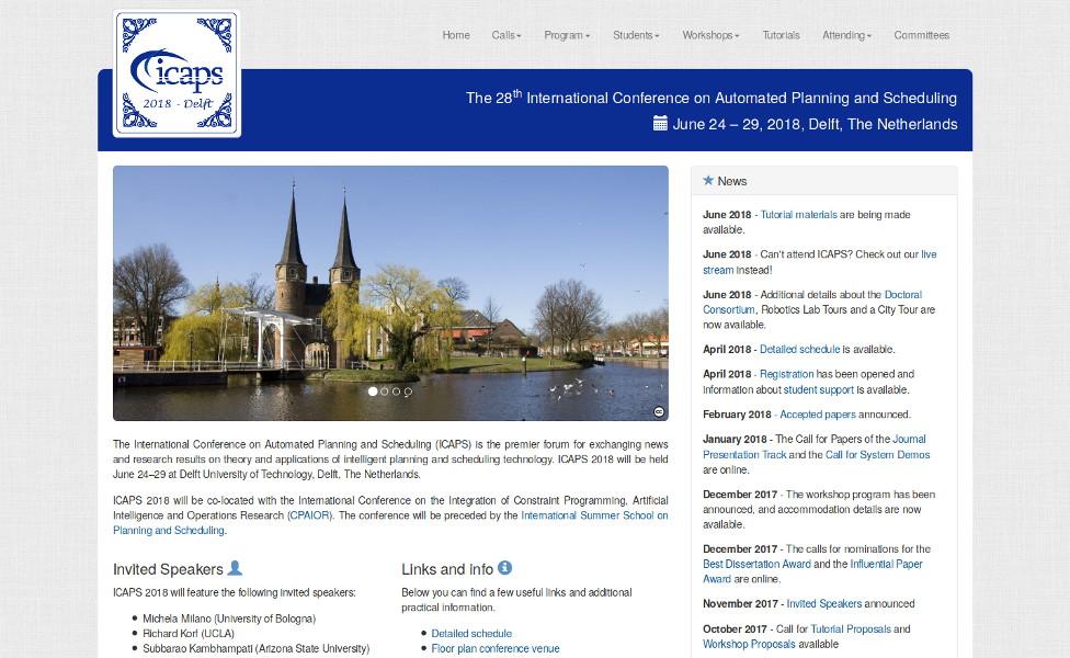 Website of ICAPS 18