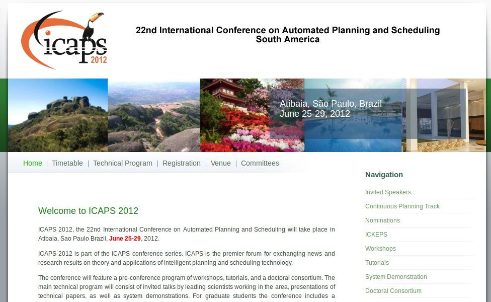Website of ICAPS 2012