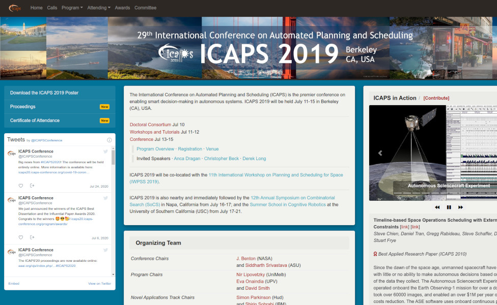 Website of ICAPS 2019